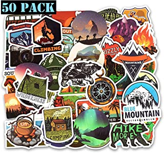 Girl Cute StickEhope Wilderness Nature Stickers Outdoors Hiking Camping Travel Adventure Stickers Suitcase Stickers Vinyl Decals for Car Bumper Helmet Luggage Laptop Water Bottle (50 PCS)