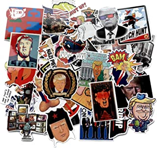 55pcs America President Trump Spoof Stickers for Water Bottles Laptop Motorcycle Bicycle Skateboard Luggage Decal Graffiti Patches Stickers