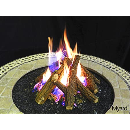 Myard Kiva 7 Country Oak Fire Gas Log Sticks Logs Only For Natural Gas Propane Fireplace Or Fire Pit Garden Outdoor