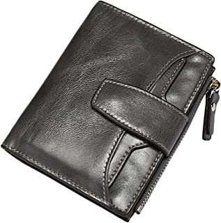 Itslife Women's RFID BLOCKING Leather Multi Functional Compact Wallet Card Holder