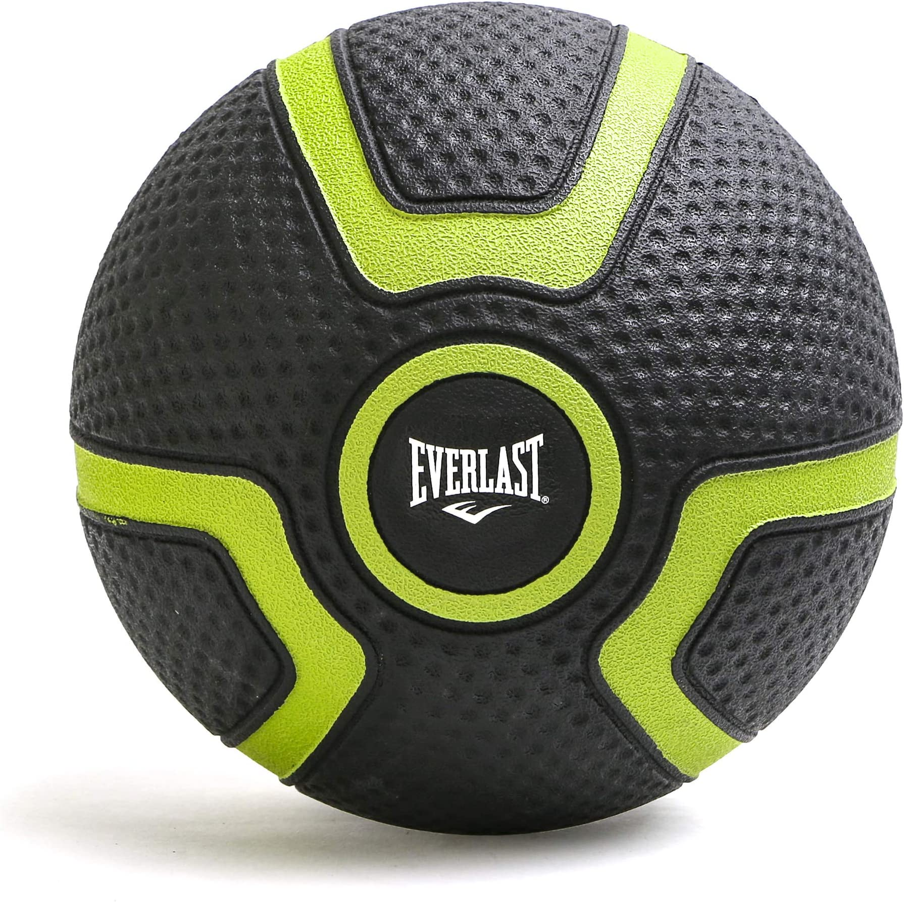 Everlast Medicine Ball Textured Grip – for Weighted Slam Ball Workout | Strength, Balance, Core Training | Wall Ball Exercise | Durable Non-Slip Rubber (P00001794)