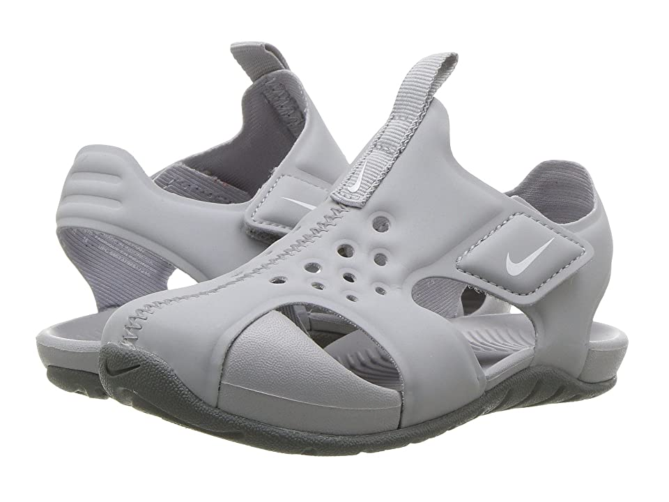 Nike Kids Sunray Protect 2 (Infant/Toddler) (Wolf Grey/White/Cool Grey) Boys Shoes
