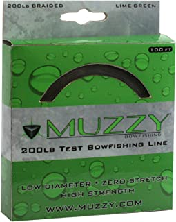 Muzzy 1078 Bow Fishing Line Lime Green 200 Braided 100' Spool