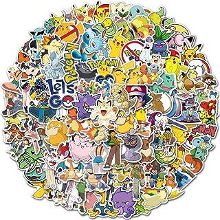 SZENEST Pokemon stickers 100 stuks schattige cartoon Pikachu stickers voor kinderen tieners waterdicht vinyl anime autosti...