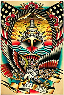 Dead Ahead by Tyler Bredeweg Ship American Traditional Tattoo Wall Art Print
