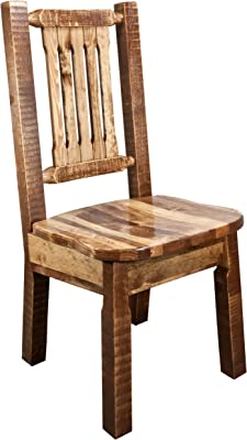 Montana Woodworks MWHCKSCNSL Homestead Collection Dining Side Chair with Ergonomic Wooden Seat, Stain & Lacquer