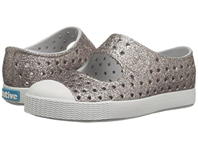 Native Kids Shoes Juniper Bling (Toddler/Little Kid) (Metal Bling/Shell White) Girls Shoes