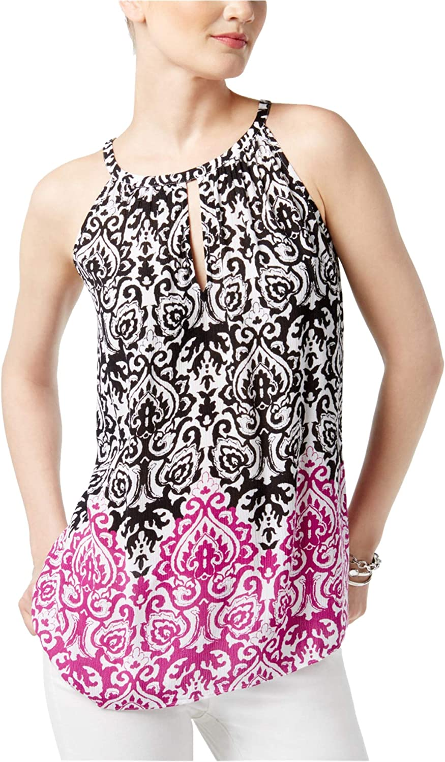 INC Womens Printed Knit Blouse
