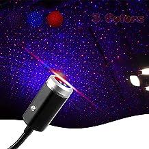 USB Star Projection Night Light، 3 ألوان، 7 أوضاع إضاءة، أضواء داخلية لسقف السيارة الرومانسية، قابلة للتعديل، ديكورات إضاء...