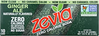 Zevia, Soda Zero Calorie Ginger Ale, 12 Fl Oz, 10 Pack