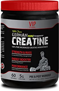 Muscle gain - German CREATINE Powder - MICRONIZED CREATINE MONOHYDRATE CREAPURE 300G 60 Servings - German creatine