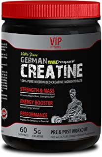 Natural Bodybuilding Supplements - German CREATINE CREAPURE Powder - PRE & Post Workout - German creatine monohydrate - 1 ...
