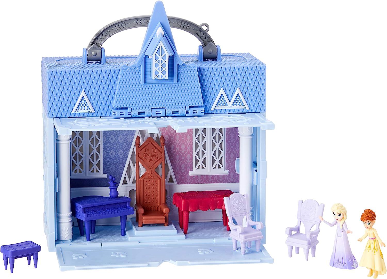 Disney Frozen Pop Adventures Arendelle Castle Playset with Handle, Blue