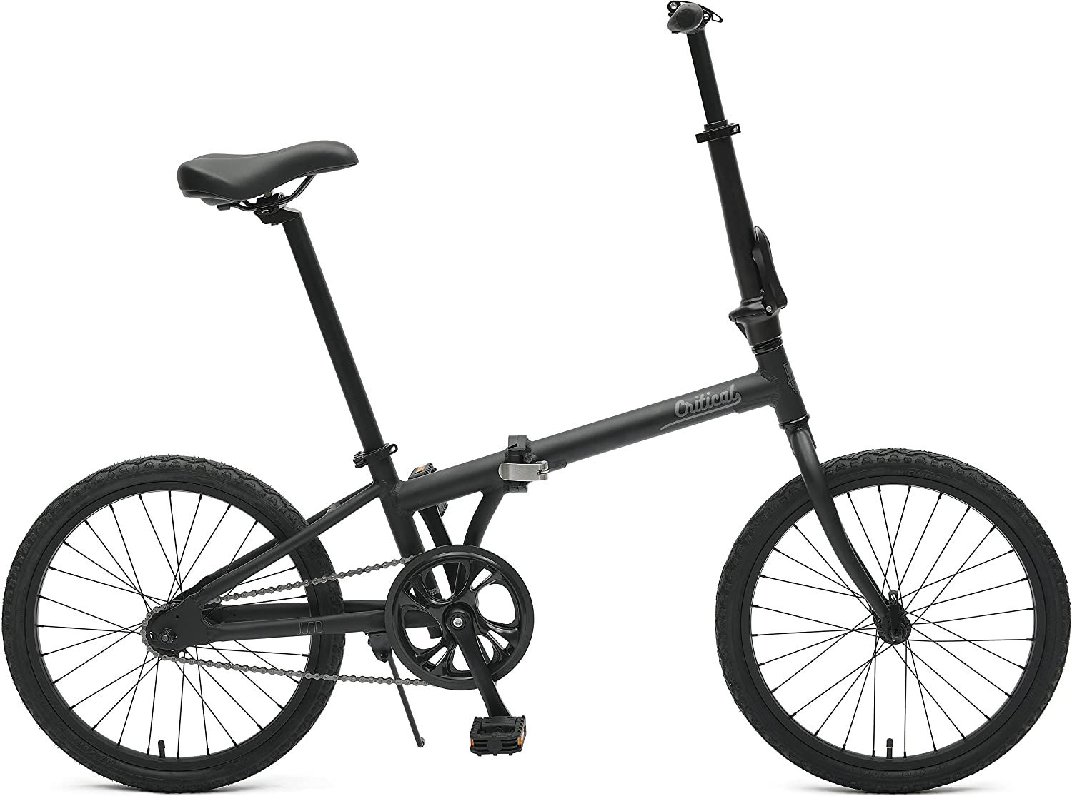 Critical Cycles Judd Folding Single Speed Bike with Coaster Brake, Matte Eggshell, 26 cm One Size