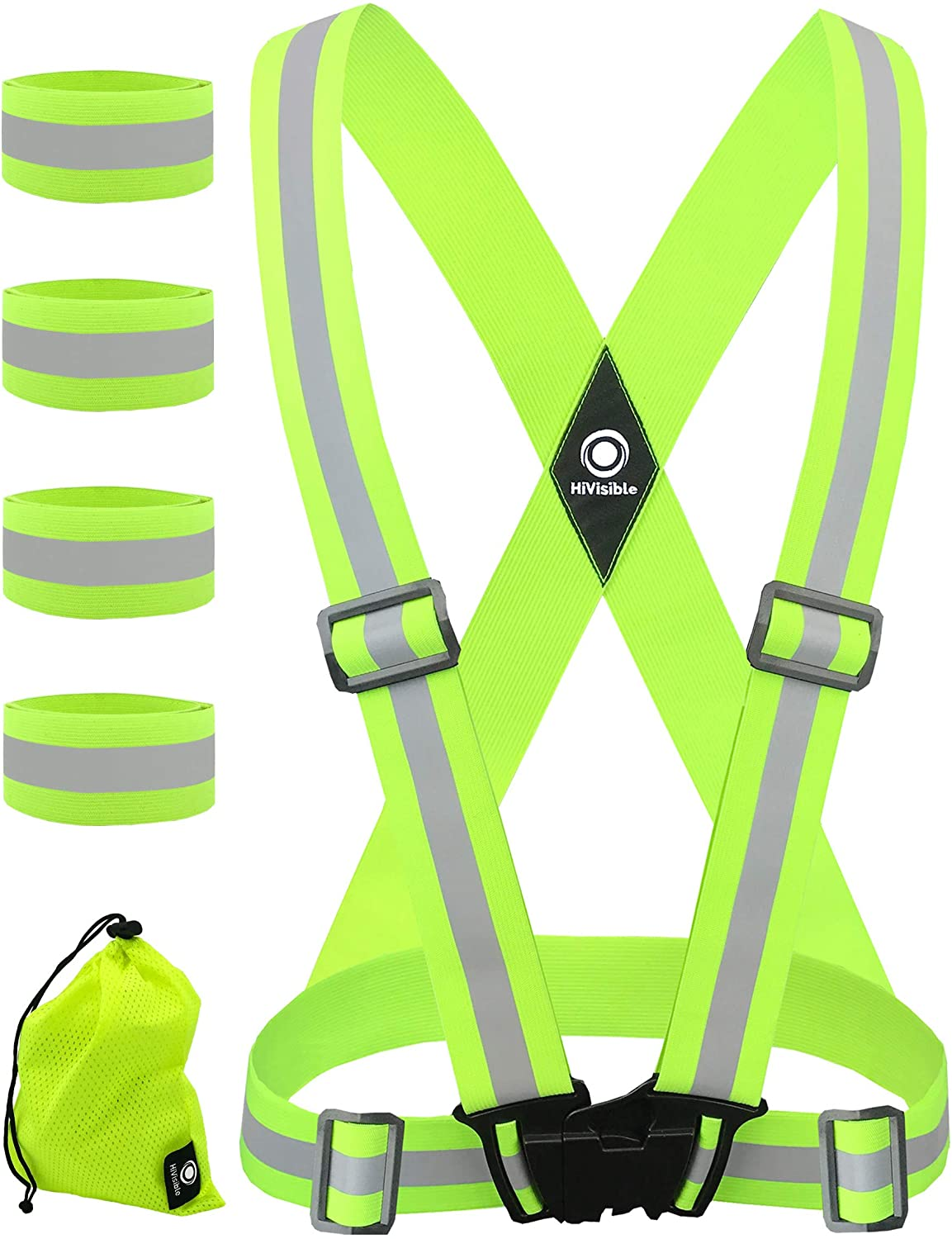 HiVisible Reflective Daily bargain sale Vest with - specialty shop Run Bands