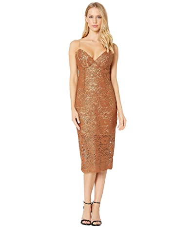 Bardot Golden Lace Dress (Soft Gold) Women