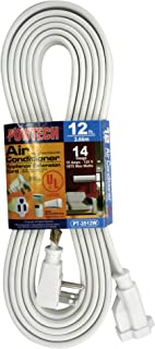 POWTECH Heavy duty 12 FT Air Conditioner and Major Appliance Extension Cord UL Listed 14 Gauge, 125V, 15 Amps, 1875 Watts ...