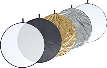 AmazonBasics 5 in 1 Collapsible Multi-Disc Photography Light Reflector with Bag - 43 Inch