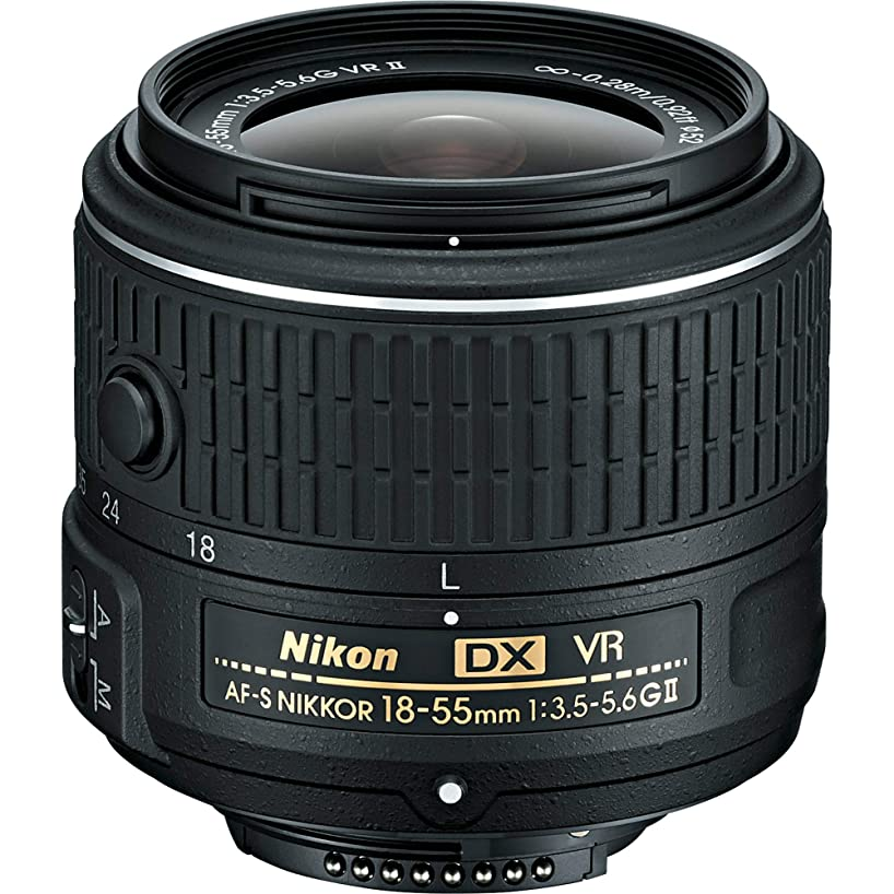 Nikon 18-55mm f/3.5-5.6G VR AF-P DX Zoom-Nikkor Lens - International Version Seller Warranty
