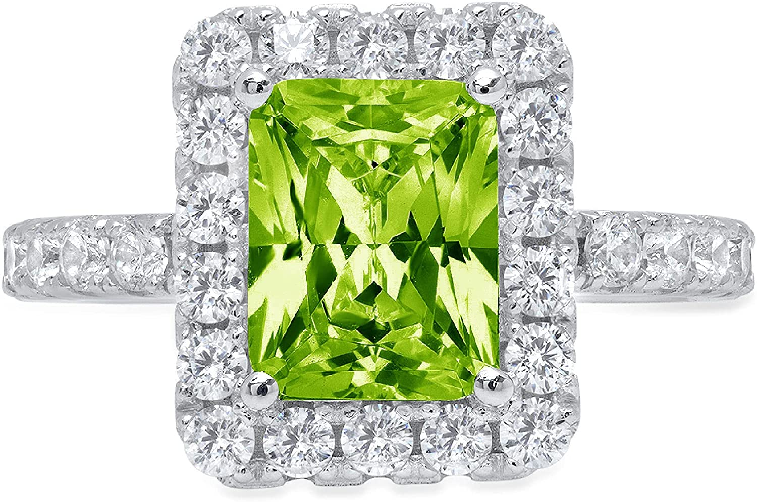 3.90ct Brilliant Emerald Challenge the lowest price of Japan Cut Solitaire Halo Flawl trend rank Accent Genuine