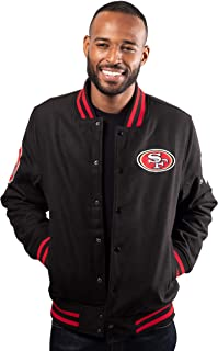 Ultra Game NFL Men's Classic Varsity Coaches Jacket
