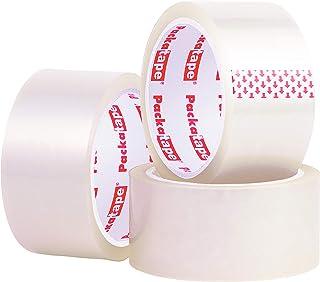 Packatape 3 rouleaux 48 mm x 66 m ruban adhésif d'emballage pour colis et boîtes