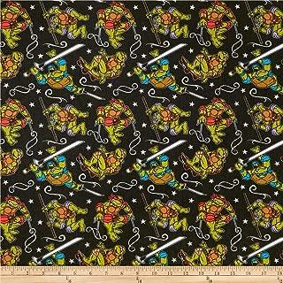 E. E. Schenck Nickelodeon Teenage Mutant Ninja Turtles Turtle Action Fabric, Green, Fabric By The Yard