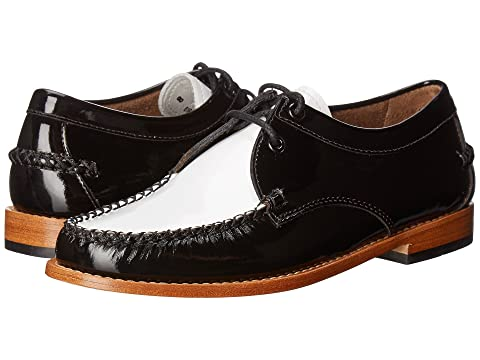 G.H.BASS&CO Winnie Weejuns, Black/White Patent Leather