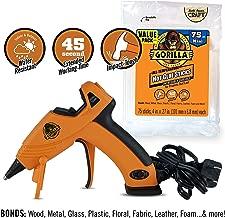Gorilla 8401515 Hot Glue Gun and Sticks, 75 ct