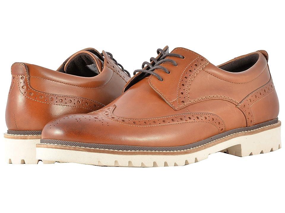 Rockport Marshall Wingtip (Cognac Leather) Men