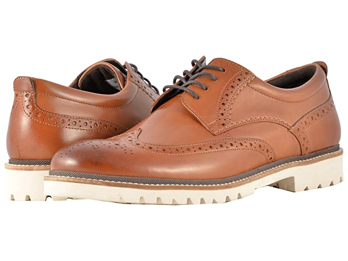 Rockport  Marshall Wingtip (Cognac Leather) Mens Shoes