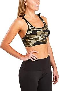 Racerback Sports Bra for Women- Strappy Yoga Bra - Breathable Medium Support Activewear Bra