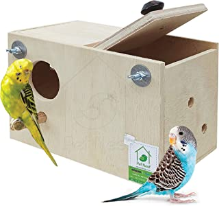 PetNest Standard Budgie Bird and Love Bird breeding nest Box