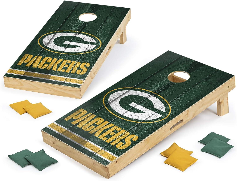 PROLINE NFL Green Branded goods Bay Packers 2'x4' Board Sale Cornhole Vintage Set -