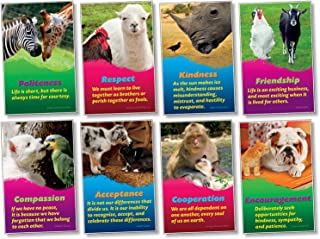 North Star Teacher Resource NST3061 Kindness and Respect Bulletin Board Set, Set of 8 Posters
