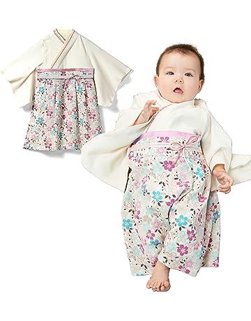 e053ea033eb35 Sweet Mommy 袴 ロンパース ベビー 着物 カバーオール 日本製和柄ちりめん オーガニックコットン身頃 オフ
