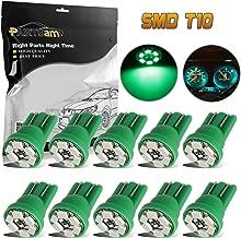 Partsam 10x T10 Wedge 168 194 W5W 2825 Green Instrument Gauge Cluster Panel LED Light Bulbs