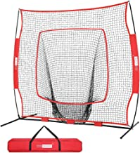 VIVOHOME 7 inch x 7 inch Baseball Backstop Softball Practice Net with Strike Zone Target and Carry Bag