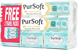 PurSoft Citrus Verbena Scented Core Bathroom Rolls, 4 Ply, 180 Sheets x 30 Rolls