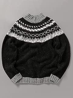 [シップスジェットブルー] ニット ハイネック エコネップ ノルディック ジャカード セーター メンズ 126350024