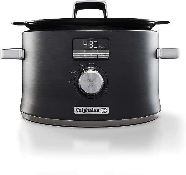 Calphalon Digital Saut Slow Cooker Dark Stainless Steel