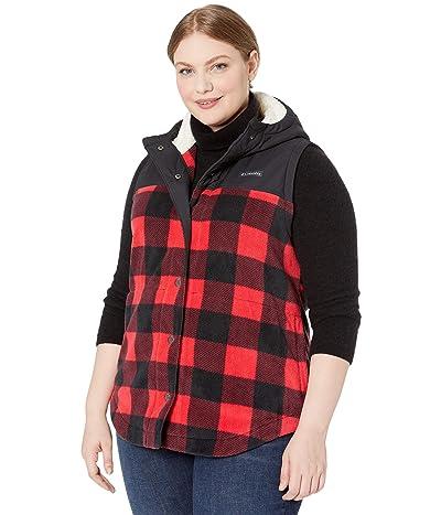 Columbia Plus Size Benton Springstm Overlay Vest (Mountain Red/Buffalo Check) Women
