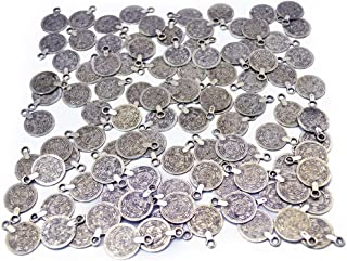 Gypsy Beachy Chic Carving Flower Coin Charms Statement Necklace Festival Ethnic Turkish India Tribal Lots (100pcs)