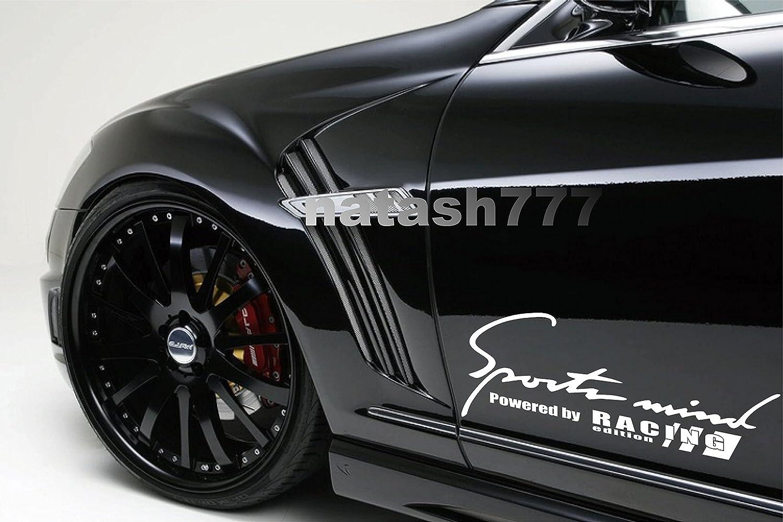 SPORTS MIND RACING EDITION SPORT 新作アイテム毎日更新 CAR STICKER DECAL 高品質 E LOGO