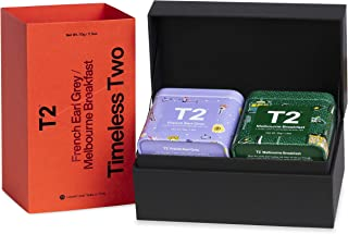 T2 Tea Timeless Two - Black Tea Gift Pack, 2 Loose Leaf Black Tea in Mini Limited Edition Tin, 70 g