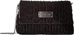 LOVE Moschino Velvet Gathered Rectangle Bag