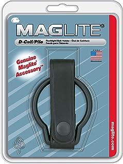 Maglite Plain Leather Belt Holder for D Cell Flashlights, Black