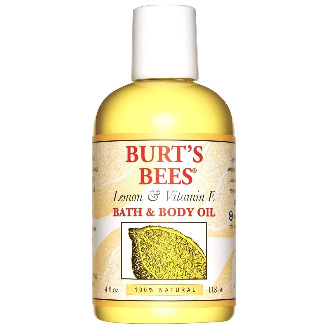 六中にやけどバーツビーレモンとビタミンEバス、ボディオイル118ミリリットル (Burt's Bees) - Burt's Bees Lemon and Vitamin E Bath and Body Oil 118ml [並行輸入品]