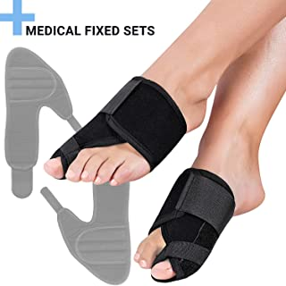 FeetVul Bunion Corrector and Bunion Relief, Orthopedic Big Toe Straightener, Elastic and Adjustable Bunion Splint, Turf Toe Brace Effective Hallux Valgus Treatment for Women and Men