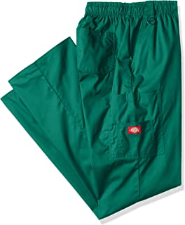 Dickies Men's Big-Tall EDS Signature Zip Fly Pull-On Scrub Pant, Hunter, Medium
